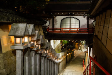 Night Stroll Through the Temple Grounds